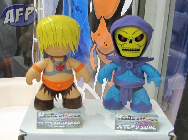 Mezco Mez-Itz He-Man and Skeletor Customs by Air Max and Spy Magician
