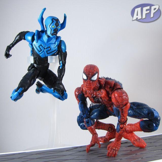 DC Universe Classics Blue Beetle with Marvel Legends Spider-Man (1200x1200)