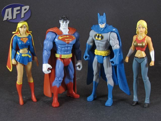 Supergirl, Bizarro, Batman, and Wonder Girl