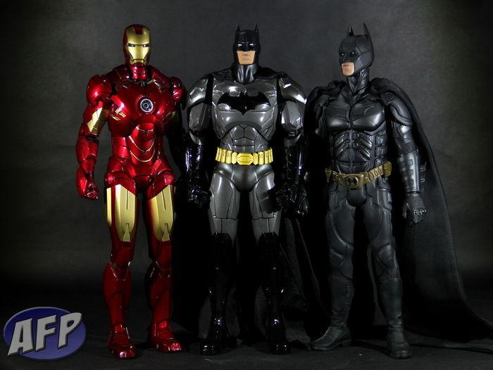 Super Alloy Batman - with Hot Toys Iron Man and Dark Knight Batman.JPG