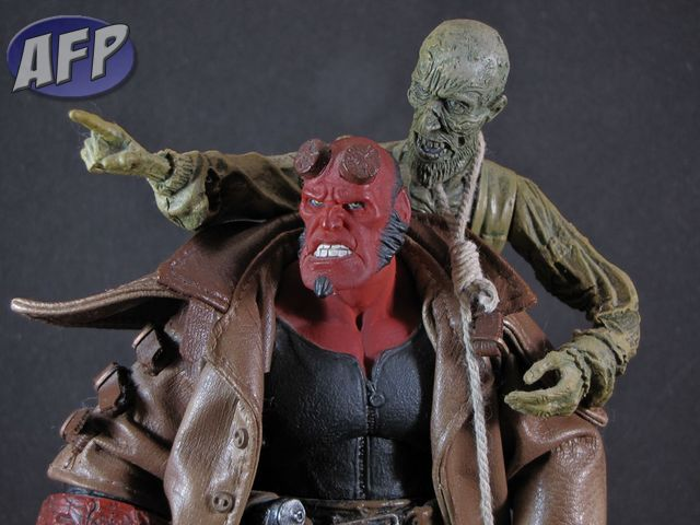 Hellboy and the corpse