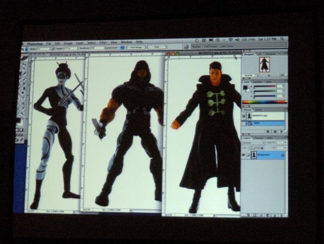 Marvel legends Teaser - Lady Bullseye, Warpath, and Madrox the Multiple Man (credit: El Diablo V2)