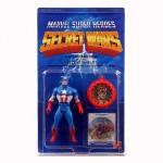 Vintage 1984 Marvel Captain America Action Figure