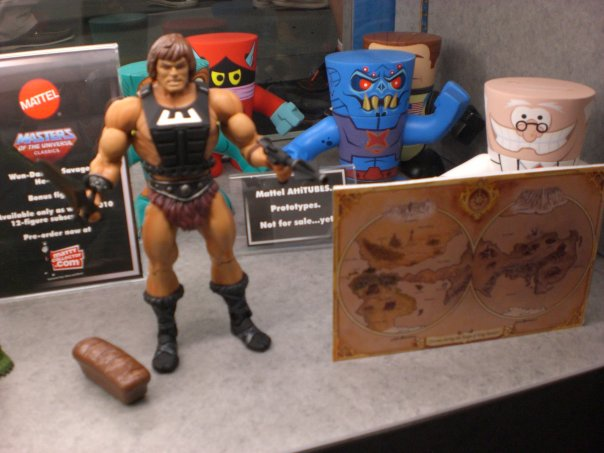 Wun-Dar Club figure. The post card sized map will also be sent to club members as a full sized poster with all new secrets of Grayskull printed on the reverse!