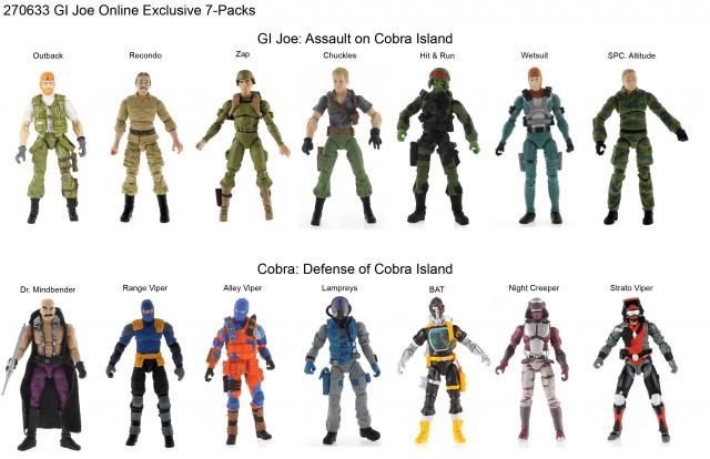 GI JOE Cobra Island 7-packs