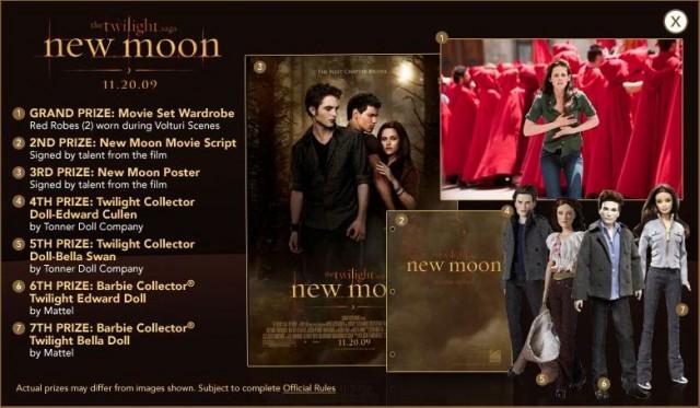 Twilight New Moon Contest Prizes