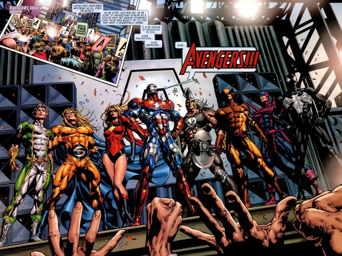 Dark Avengers 1 splash page