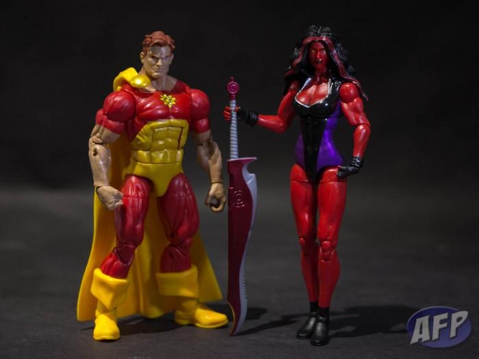 Marvel Legends 2013 - Hyperion and Red She-Hulk