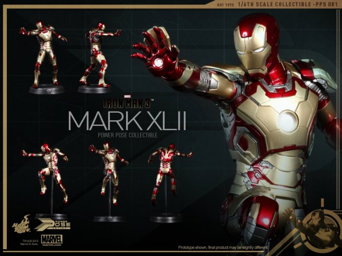 Hot Toys Iron Man 3 Power Pose Mark XLII 1