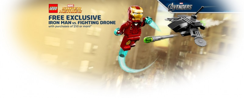 Free LEGO Iron Man vs Fighting Drone