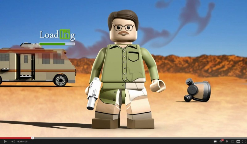 Lego Breaking Bad - the Video Game Parody