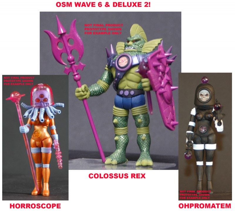 2013 Alpha Phase Edition Outer Space Men Wave 6 & Deluxe 2 set