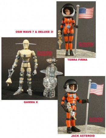 2013 Alpha Phase edition Outer Space Men Wave 7 & Deluxe 3 (pre-order)