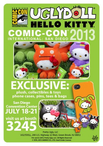 Uglydoll Hello Kitty mashup for SDCC