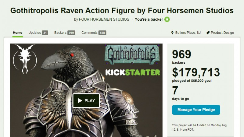 Kickstarter - Gothitropolis Ravens by the Four Horsemen - 1 week to go