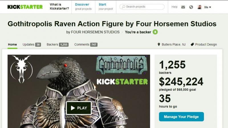 Kickstarter - Gothitropolis Ravens by the Four Horsemen - 35 hours to go