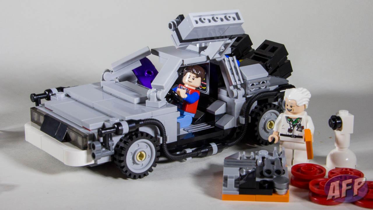 delorean time machine lego