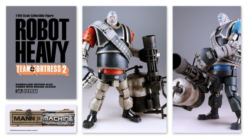 3A Toys Team Fortress 2 Mann vs Machine Robot Heavies