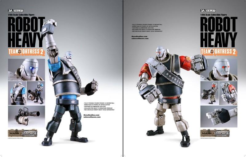 3A Toys Team Fortress 2 Mann vs Machine Robot Heavy