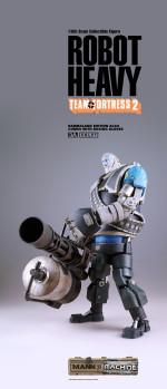 3A Toys Team Fortress 2 Mann vs Machine Robot Heavy Blue