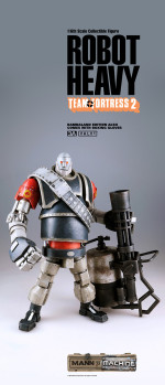 3A Toys Team Fortress 2 Mann vs Machine Robot Heavy Red