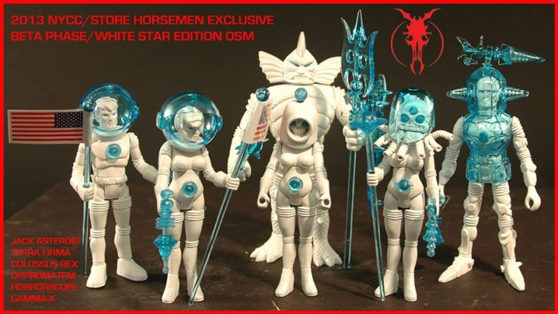 Four Horsemen Beta Phase White Star Outer Space Men NYCC 2013 Exclusive
