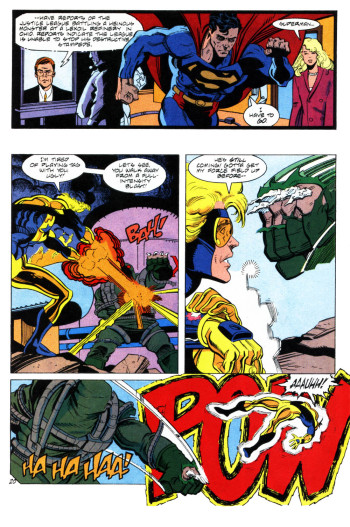 Doomsday beats up Booster Gold