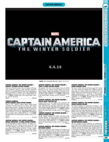 Previews October 2013 - Captain America