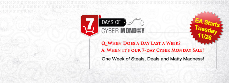 7 Days of Cyber Monday