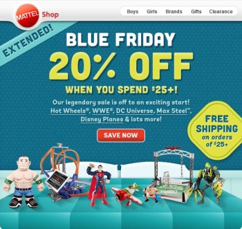 Mattel Shop Blue Friday