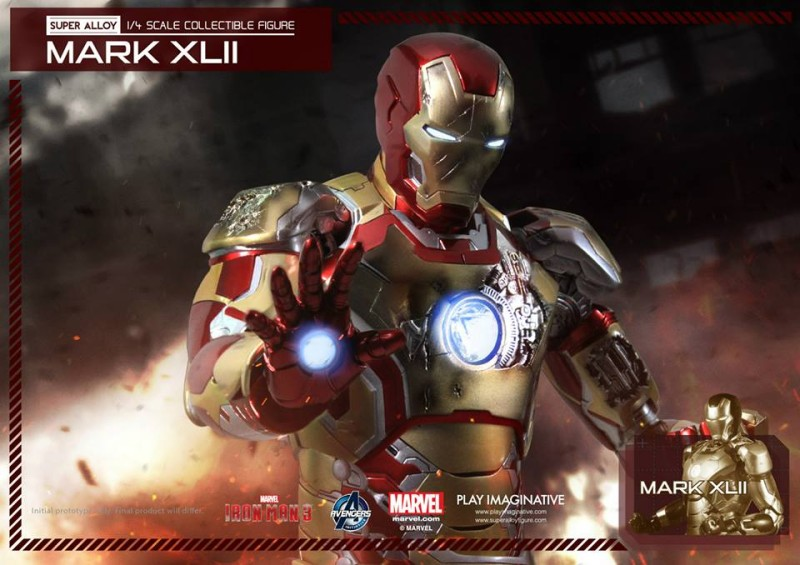 Play Imaginative Super Alloy Quarter Scale Iron Man Mark 42 1