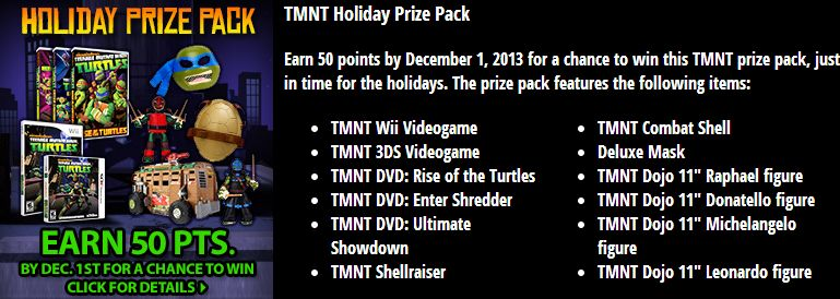 TMNT Holiday Prize Pack