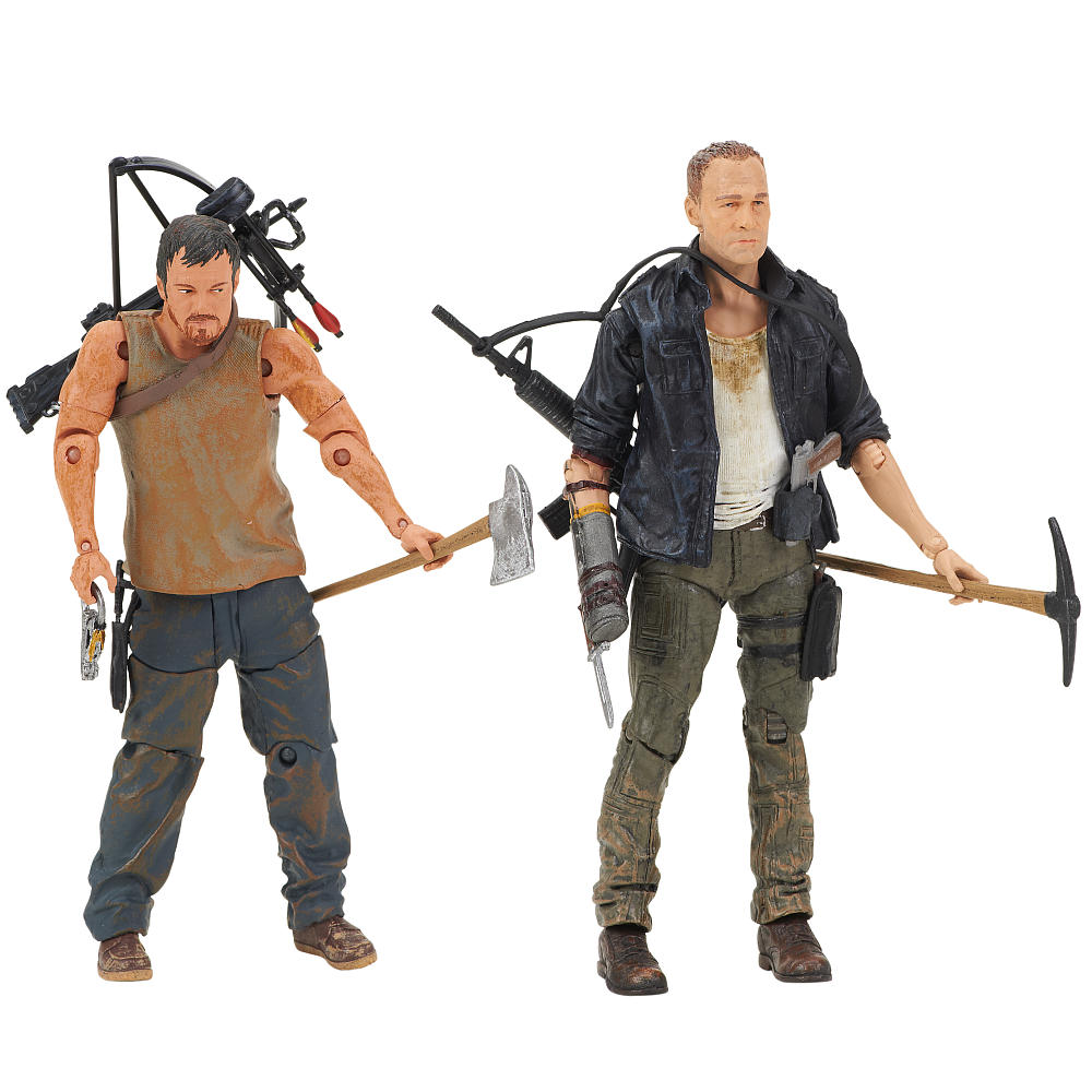 Mcfarlane walking dead series 6 daryl dixon action figure - The Walking Dead Tv Series Four 5 Inch Action Figure 2 Pack Daryl And