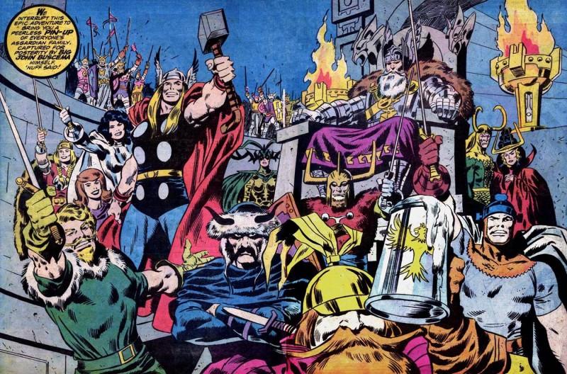 Thor pin-up by John Buscema