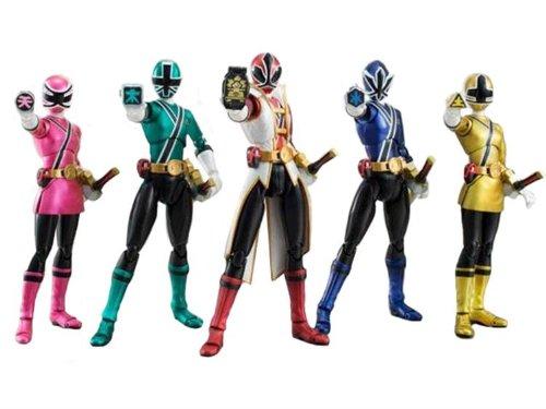 Bandai Tamashii Nations S.H. Figuarts SDCC Power Rangers Samurai Action Figure, 5-Pack