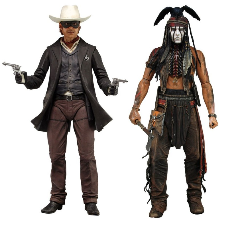 NECA The Lone Ranger - 7-Inch Deluxe Scale Action Figure (Set of 2)