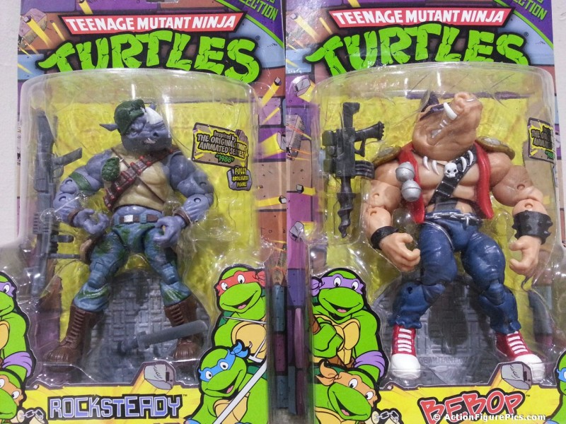 Playmates TMNT Classic Rocksteady and Bebop packaged - 1