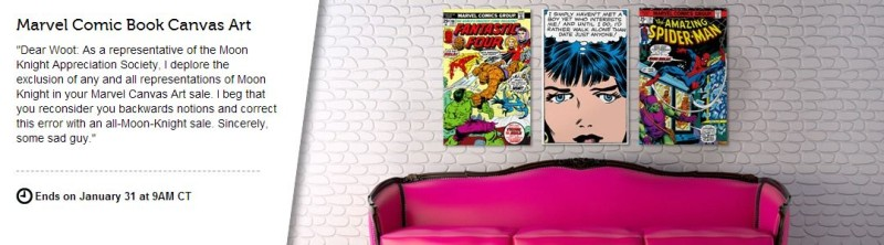 Woot Marvel Comic Book Canvas Art Sale