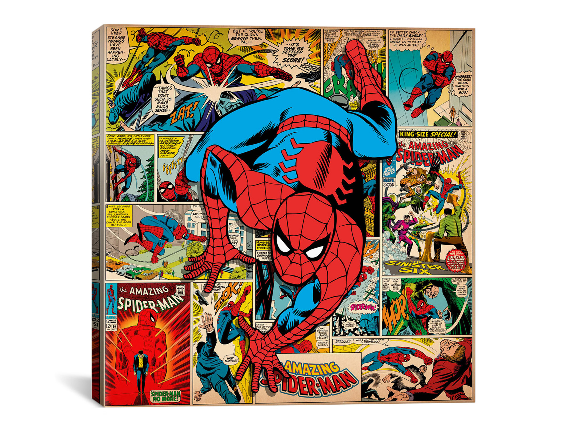 Fabulous Woot Marvel Comic Book Canvas Art sample