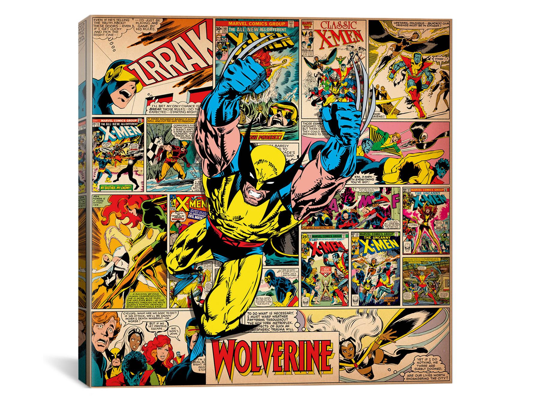 Nice Woot Marvel Comic Book Canvas Art sample