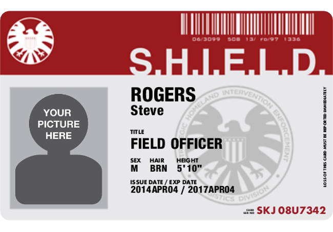 Get Your Personalized SHIELD ID Card for Free – Id Badge Template