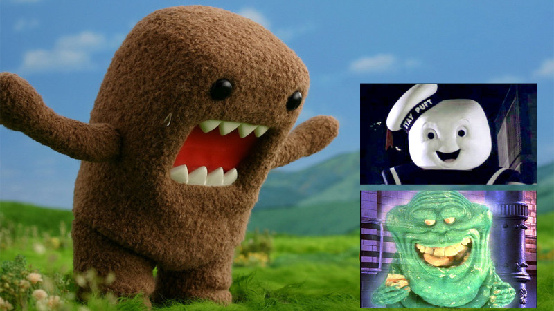 Domo with Stay Puft and Slimer