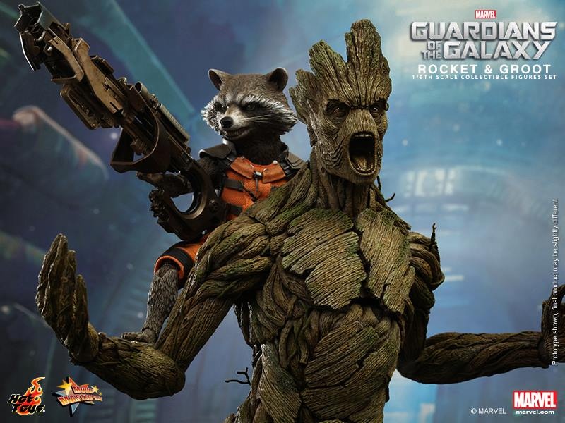 Hot Toys Guardians of the Galaxy Rocket and Groot Set 1