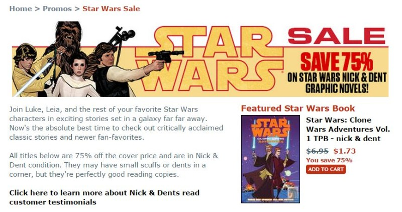 TFAW Star Wars nick and dent sale