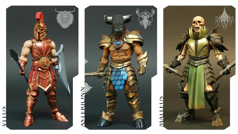 Four Horsemen Mythic Legions - Vitus, Asterionn, and Malleus