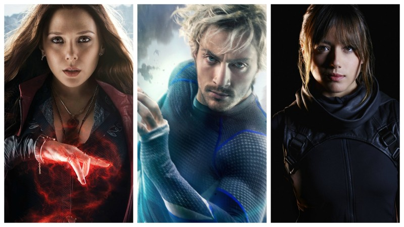 Marvel Cinematic Universe - Scarlet Witch, Quicksilver, and Skye (aka Quake)