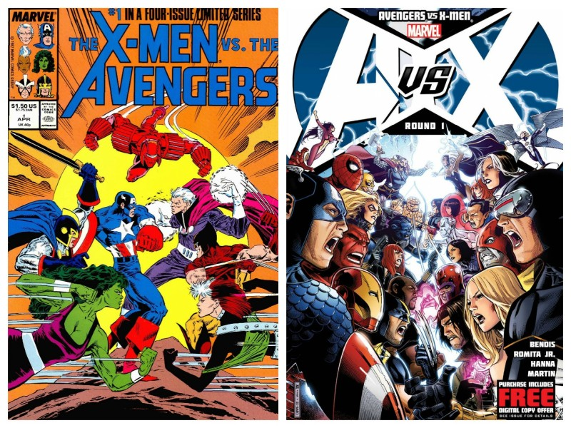 Marvel Comics crossovers - X-Men vs Avengers and AVX