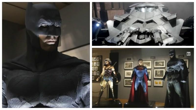 Batman v Superman costumes and Batmobile
