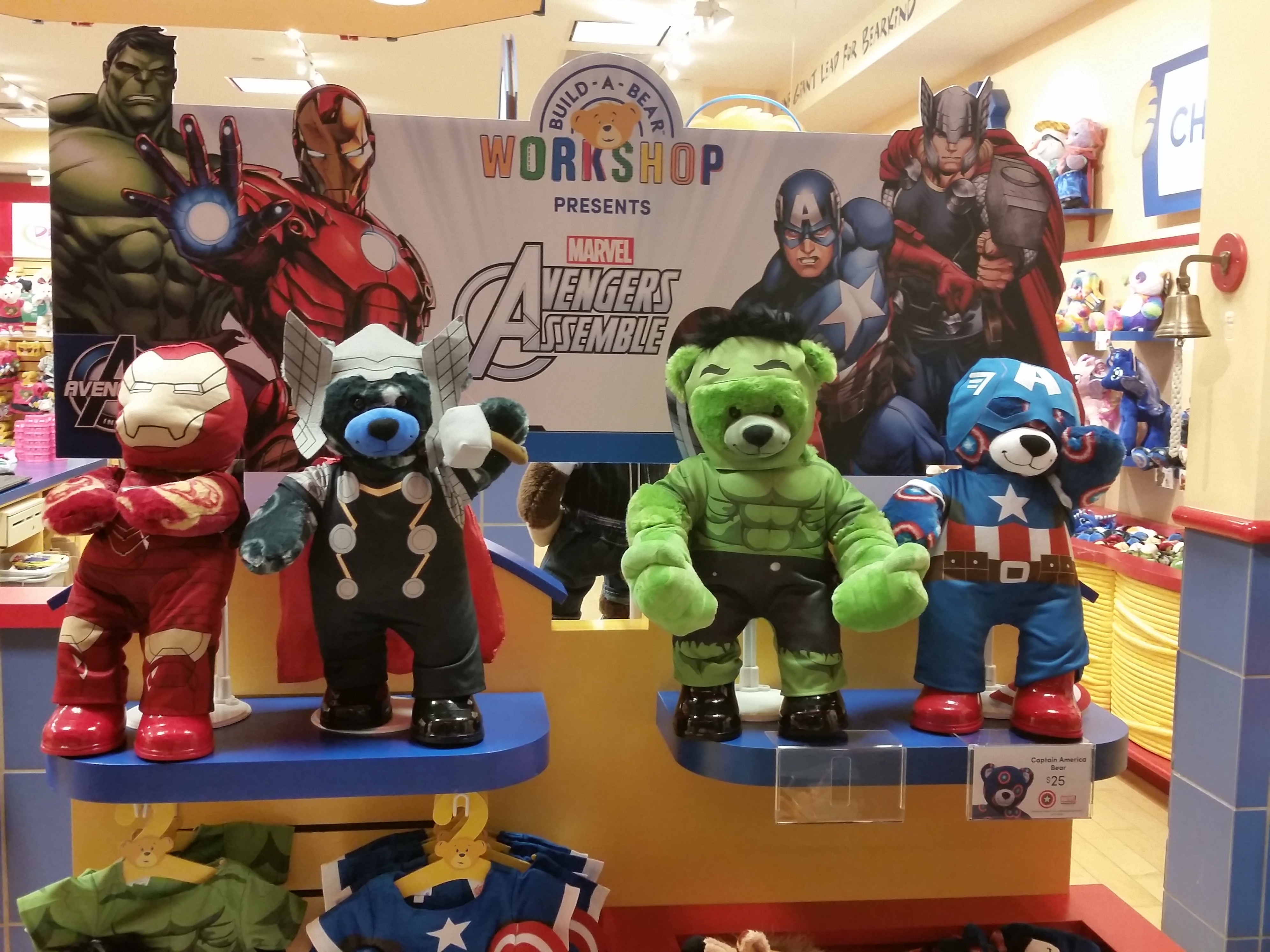 assemble your own avengers bears at the build a bear workshop