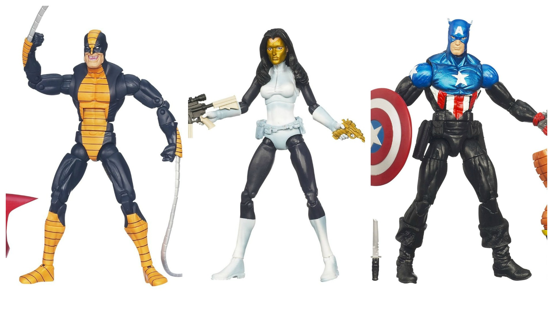 i am your fodder marvel legends constrictor madame masque and bucky captain america - Masque Captain America